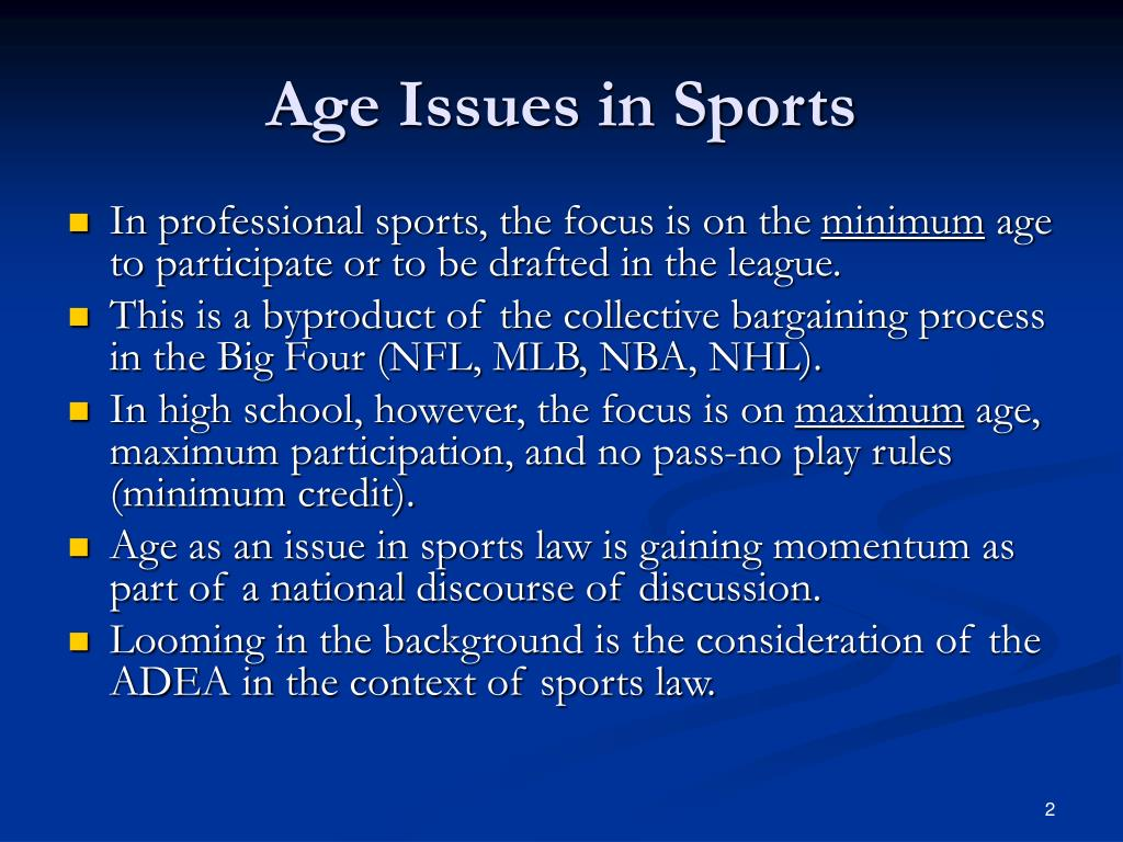 Age Issues in Sports