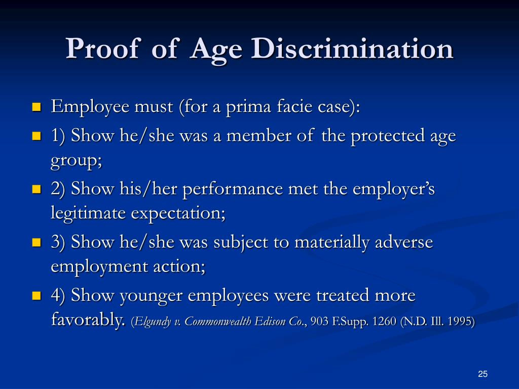 Proof of Age Discrimination