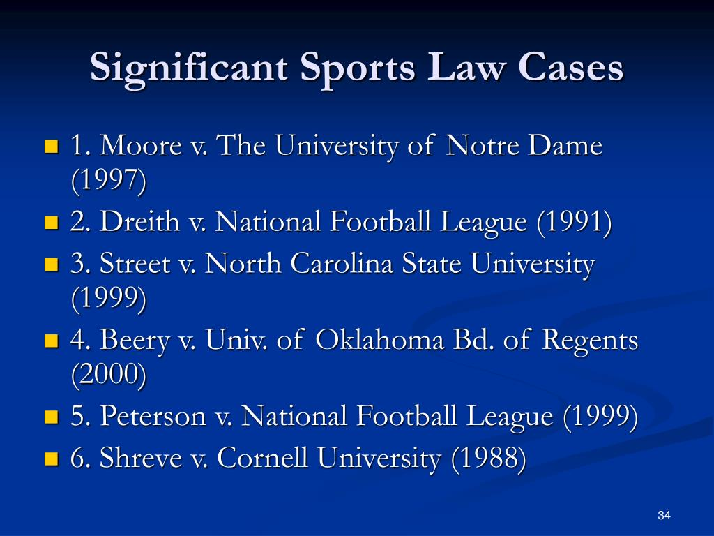 Significant Sports Law Cases
