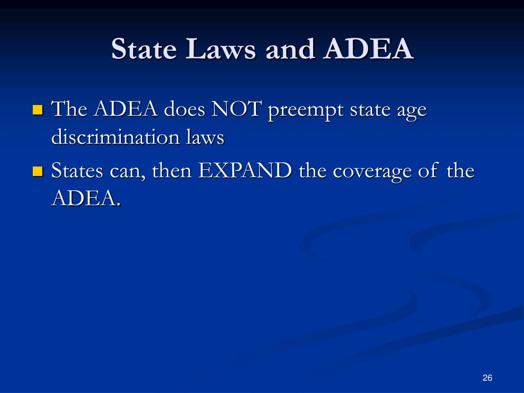 State Laws and ADEA