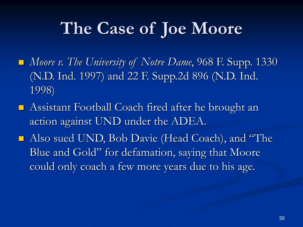 The Case of Joe Moore