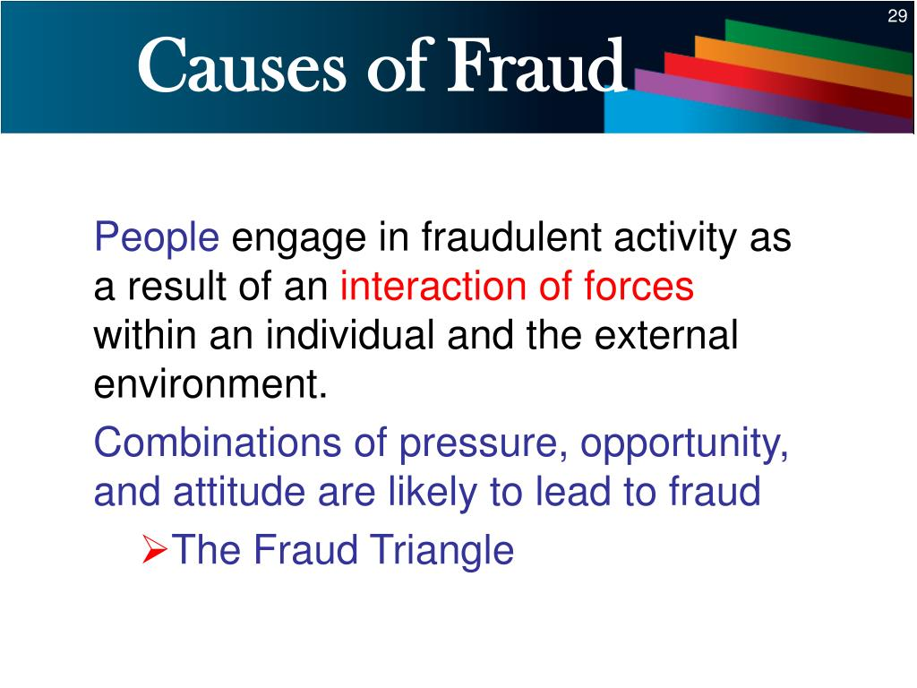 Causes of Fraud