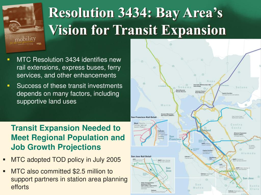 Resolution 3434: Bay Area's Vision for Transit Expansion