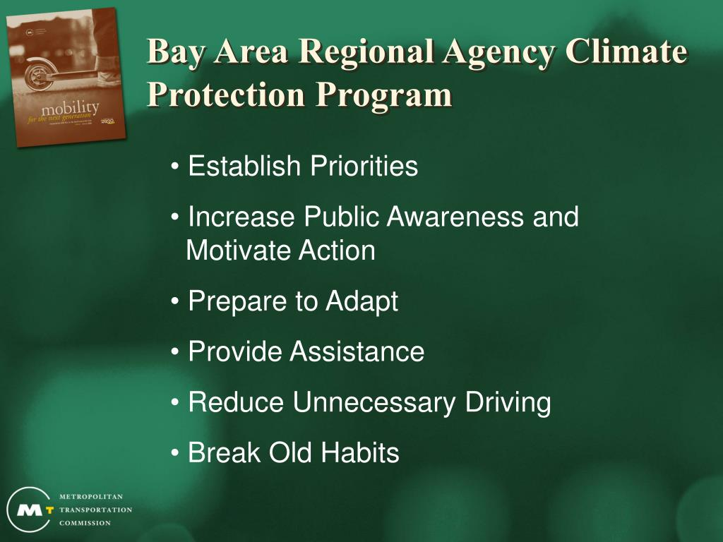 Bay Area Regional Agency Climate Protection Program