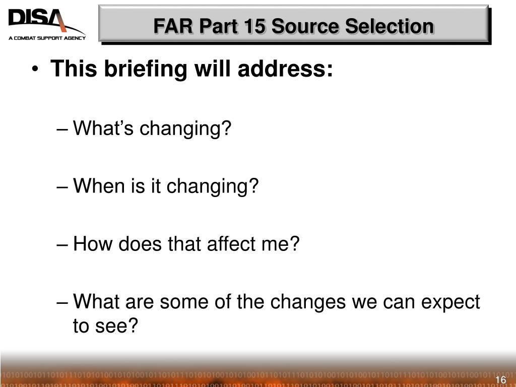 FAR Part 15 Source Selection