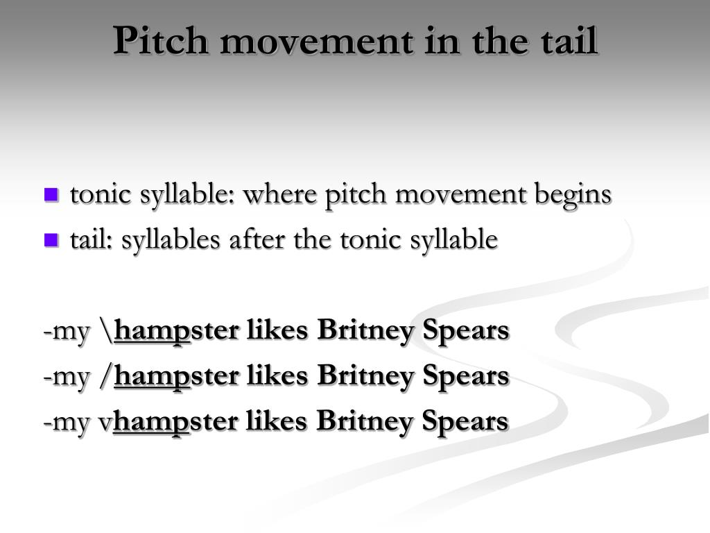 Pitch movement in the tail