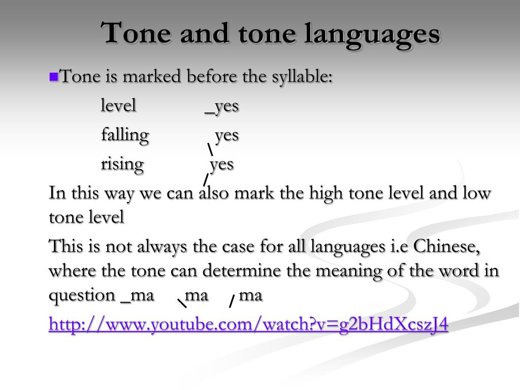 Tone and tone languages