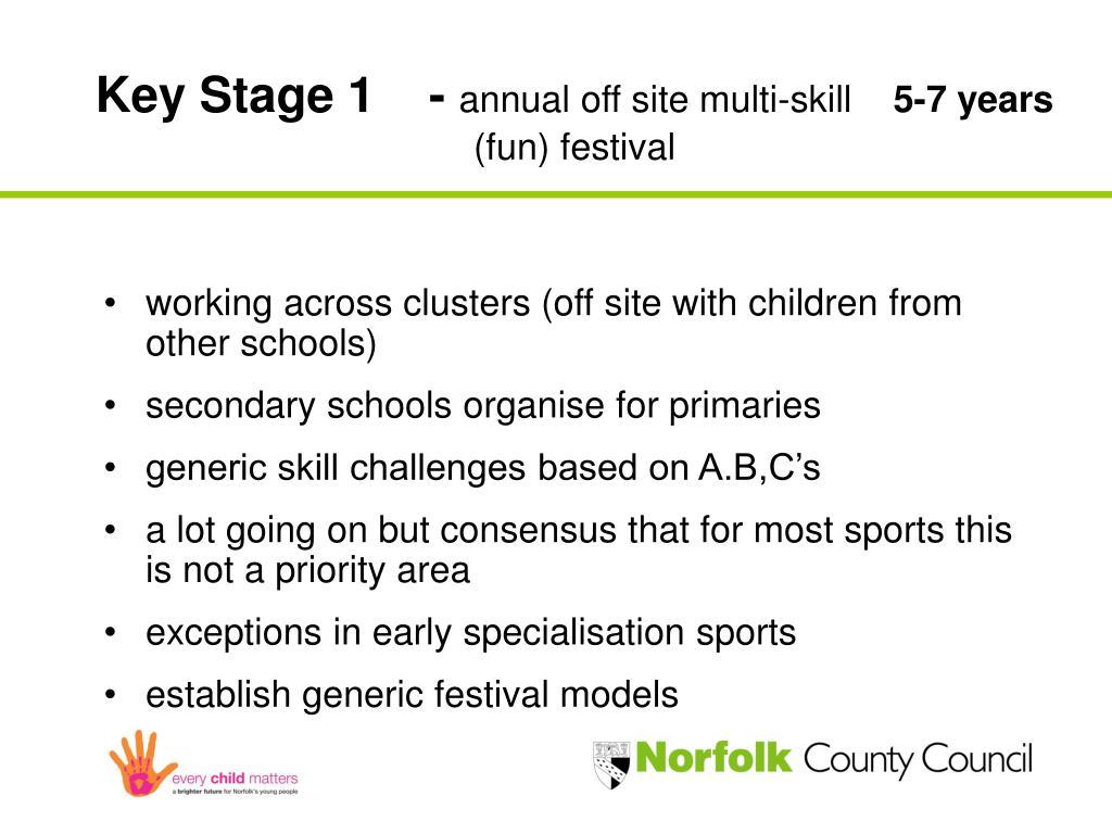 Key Stage 1 -