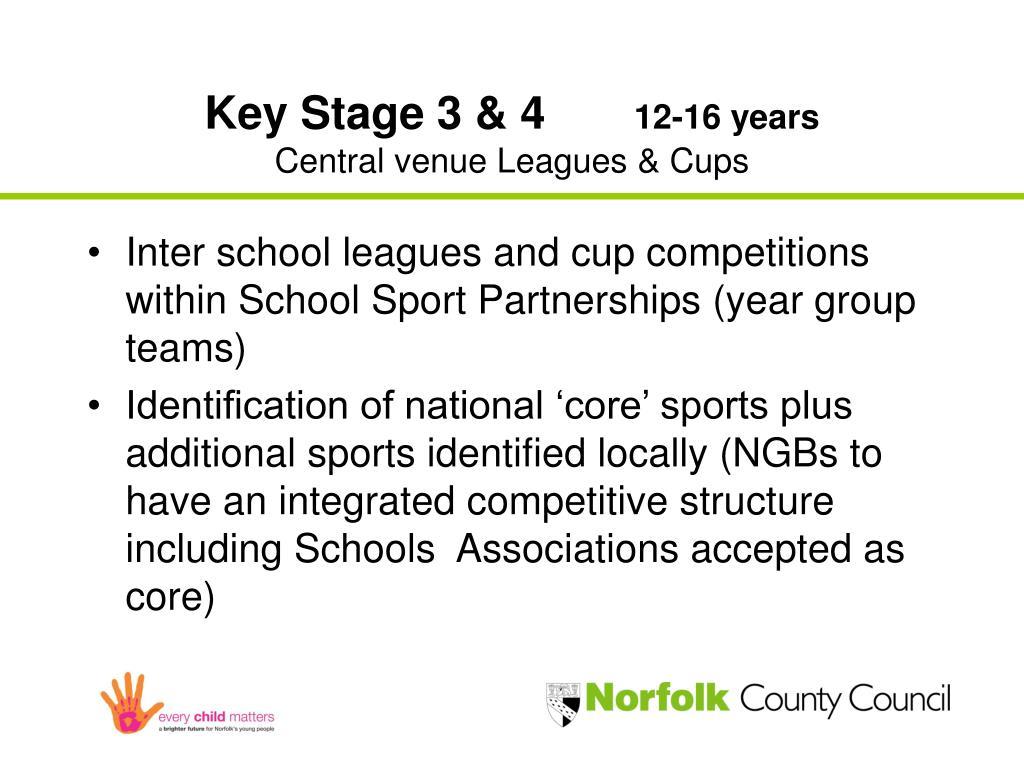 Key Stage 3 & 4