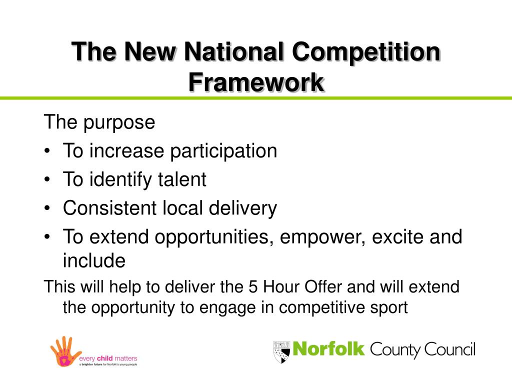 The New National Competition Framework