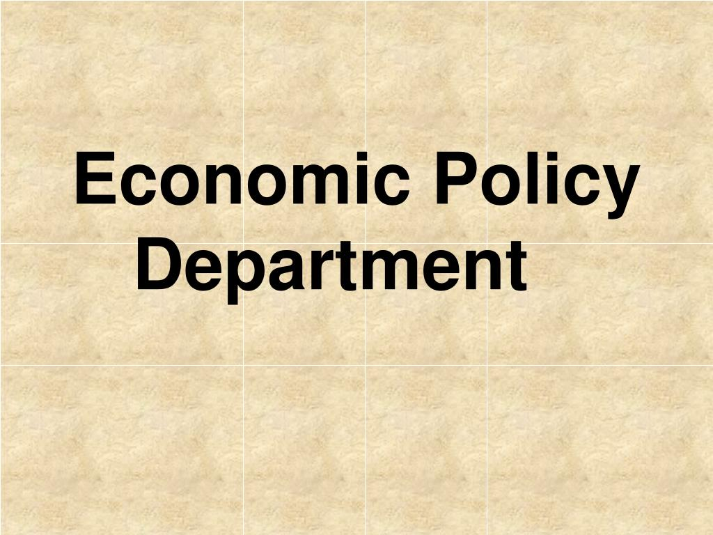 Economic Policy Department