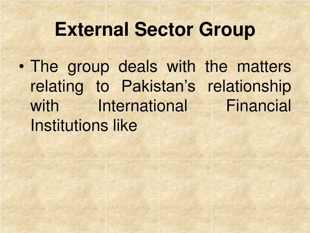 External Sector Group