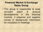 financial market exchange rates group