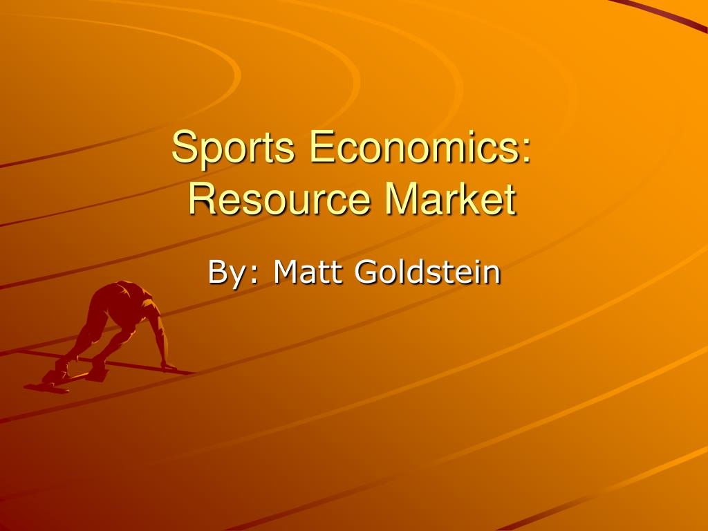sports economics resource market