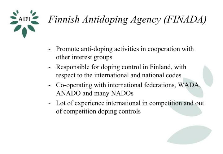 Finnish antidoping agency finada