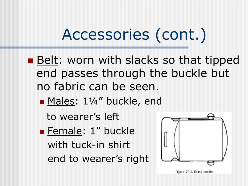 Accessories (cont.)