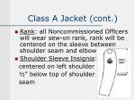 class a jacket cont