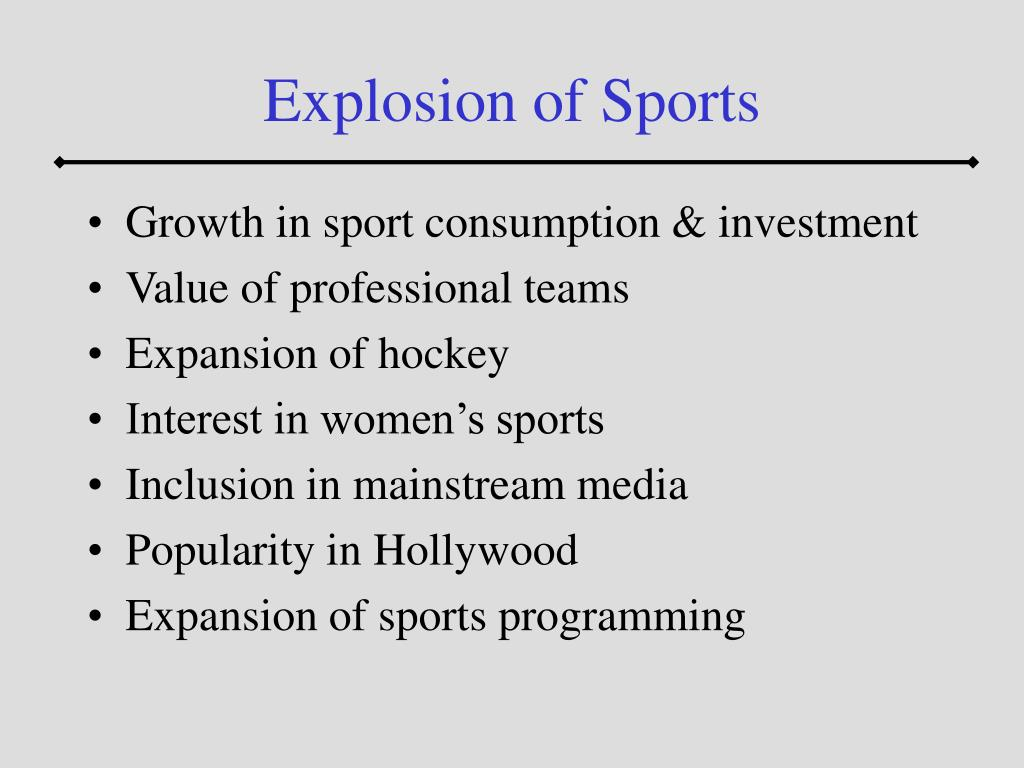 Explosion of Sports