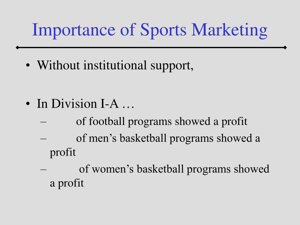 Importance of Sports Marketing