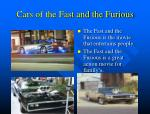 cars of the fast and the furious