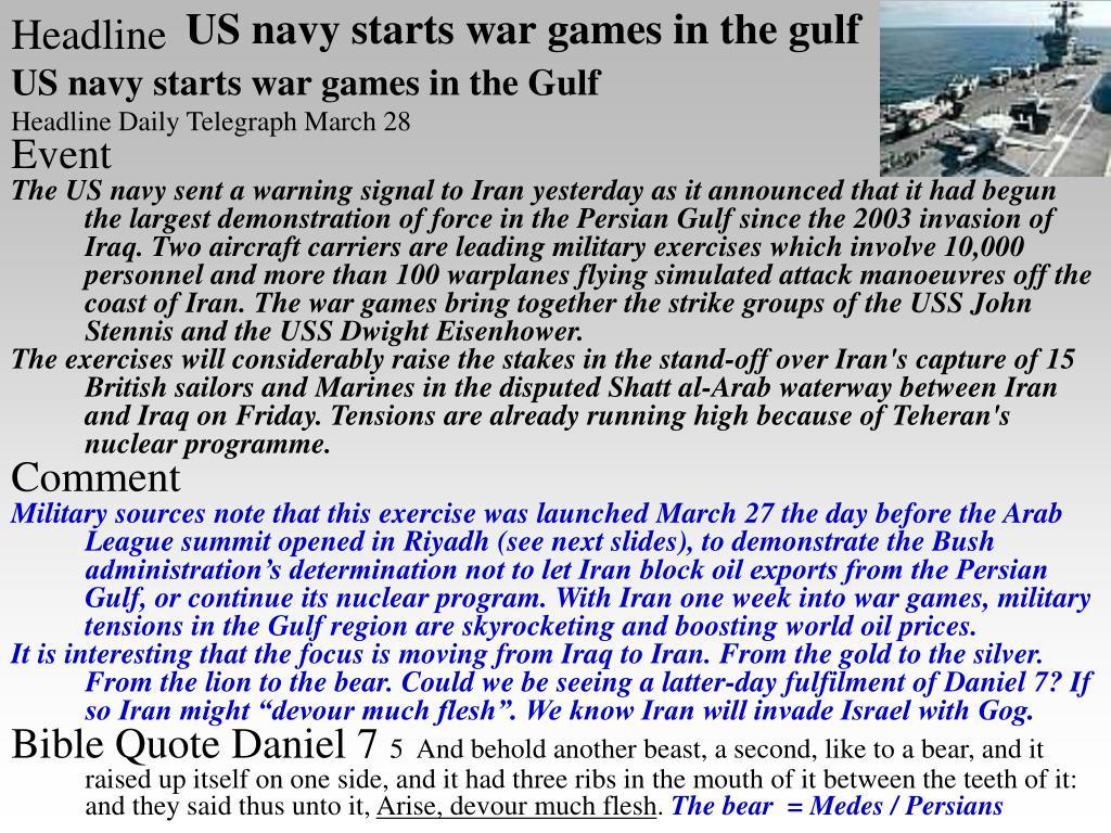 US navy starts war games in the gulf