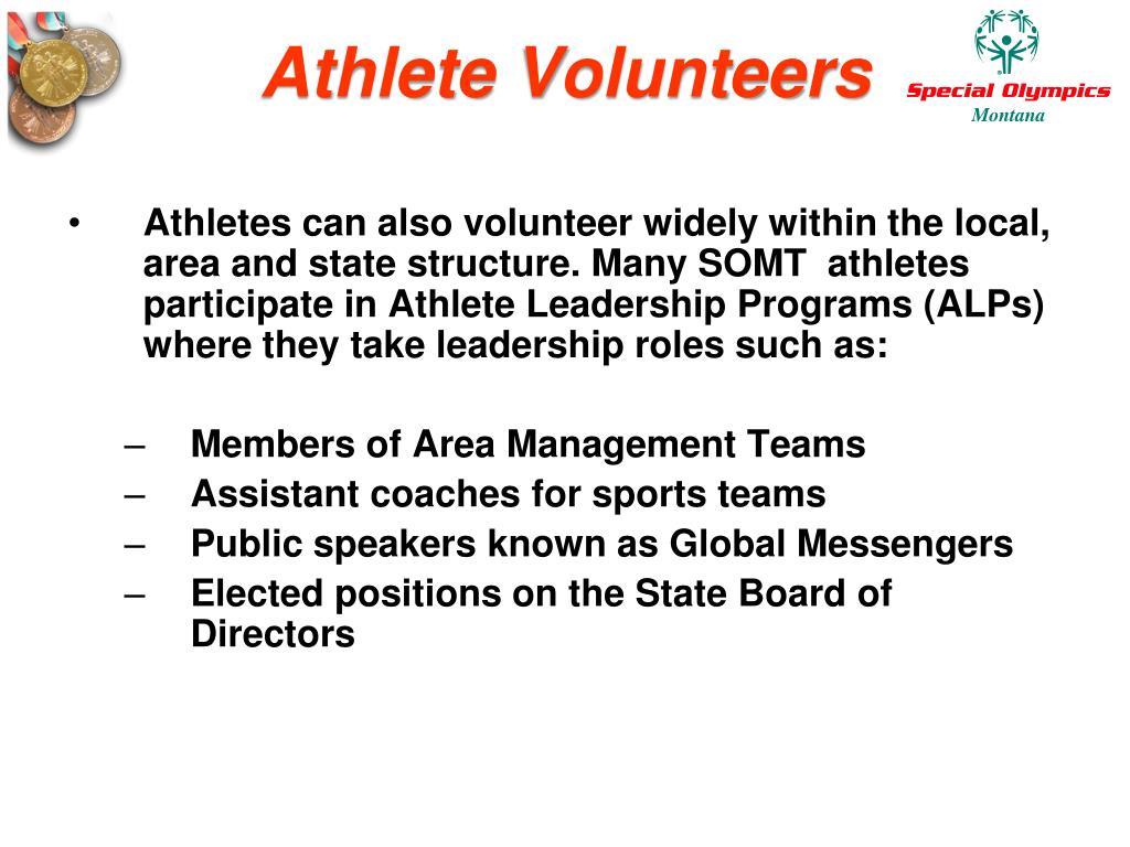 Athlete Volunteers