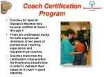 coach certification program