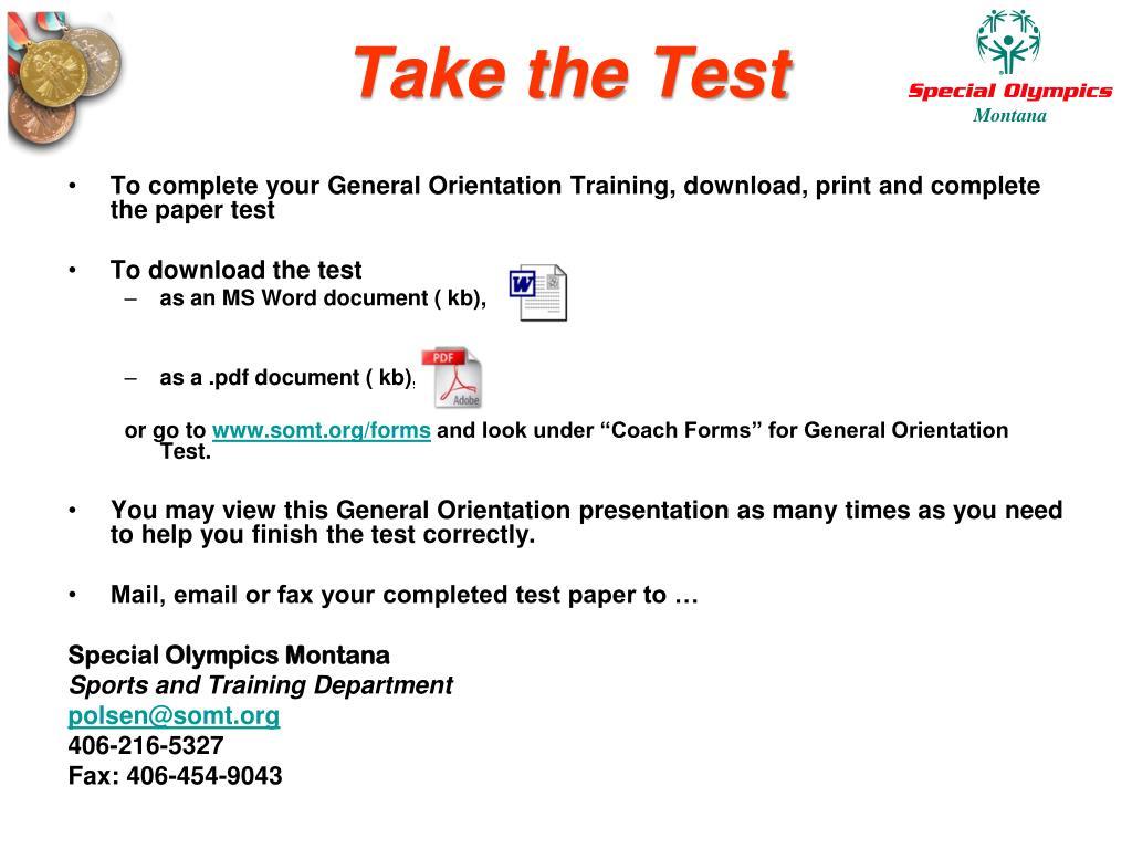 Take the Test