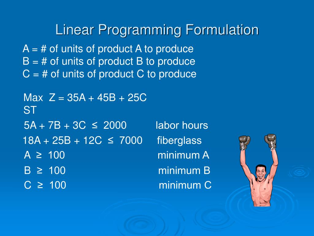 Linear Programming Formulation