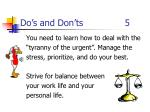 do s and don ts 5