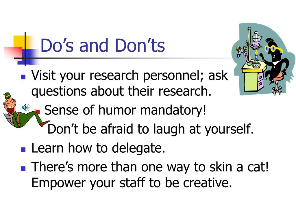 Do's and Don'ts  6