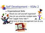 self development ksas 2