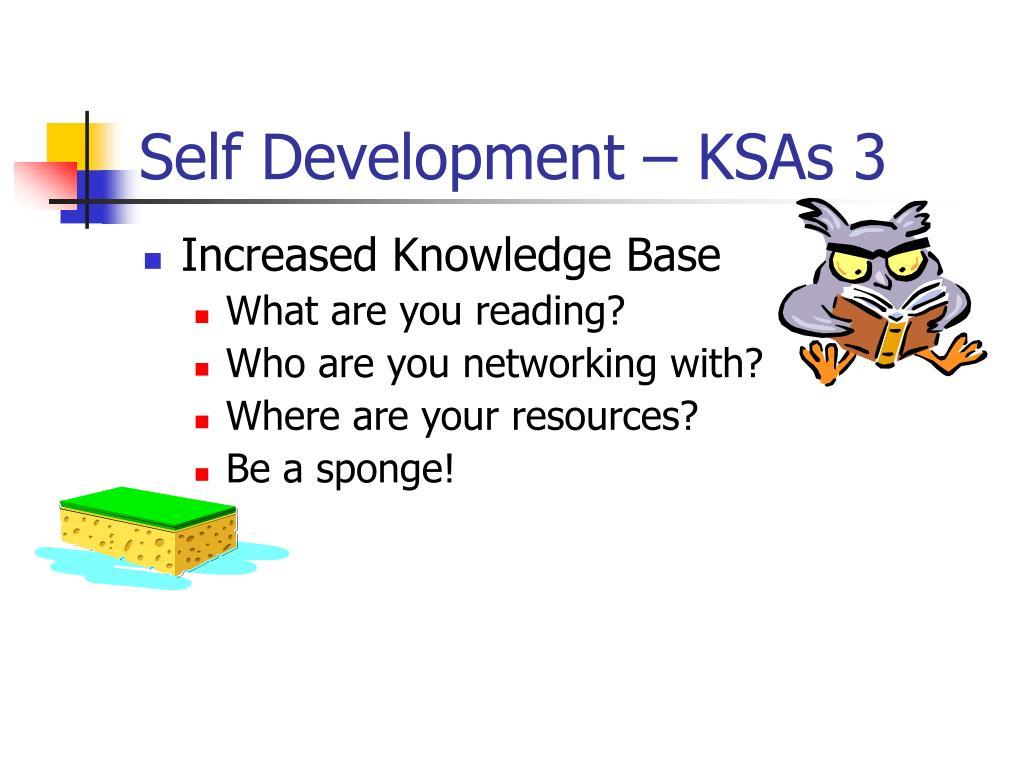 Self Development – KSAs 3