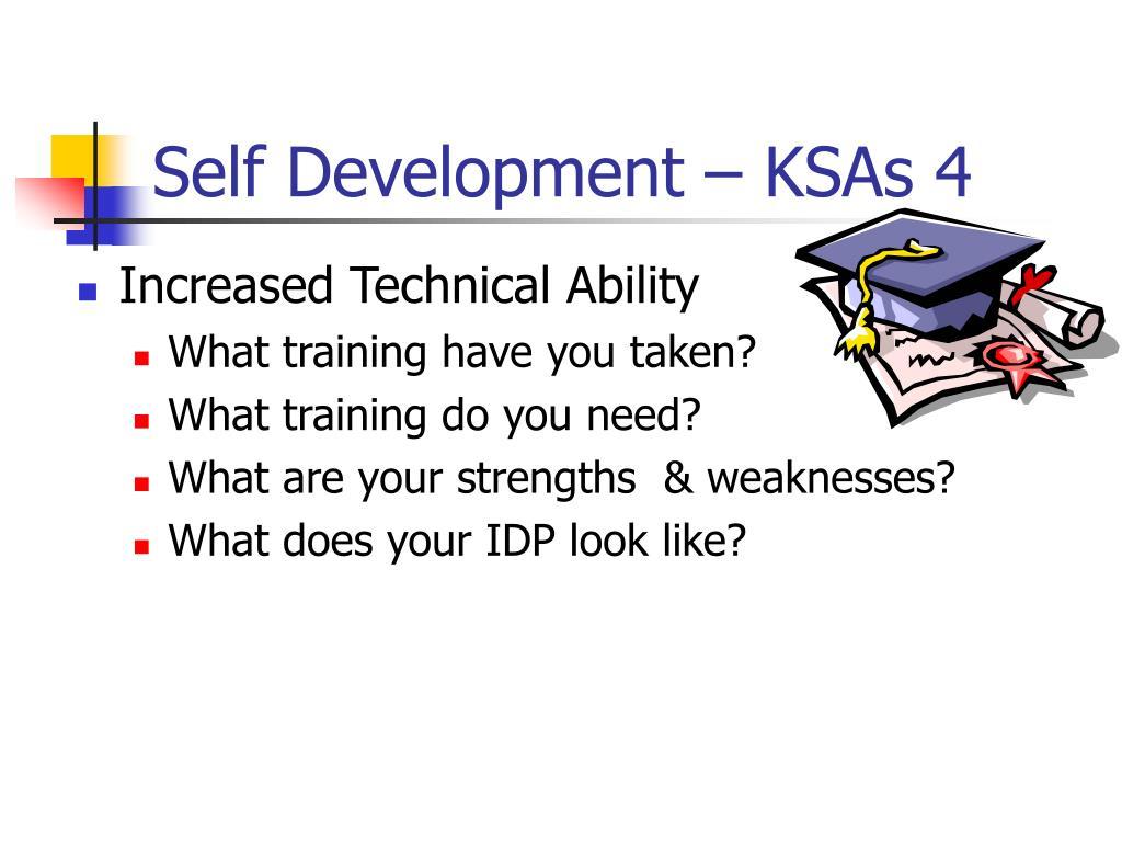 Self Development – KSAs 4