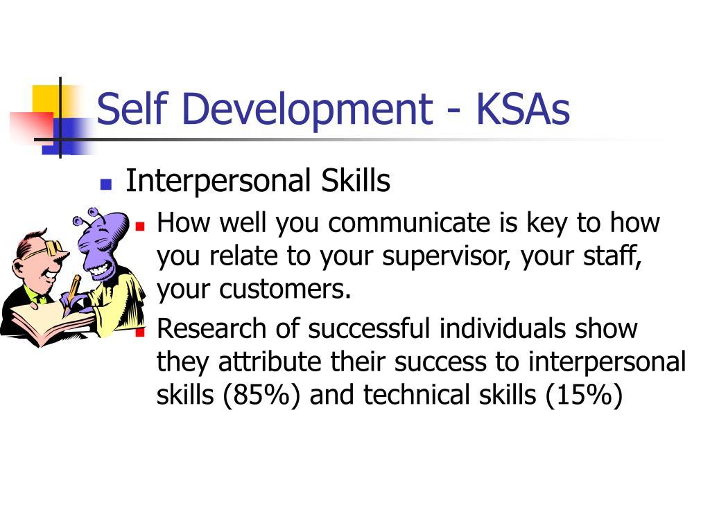 Self Development - KSAs