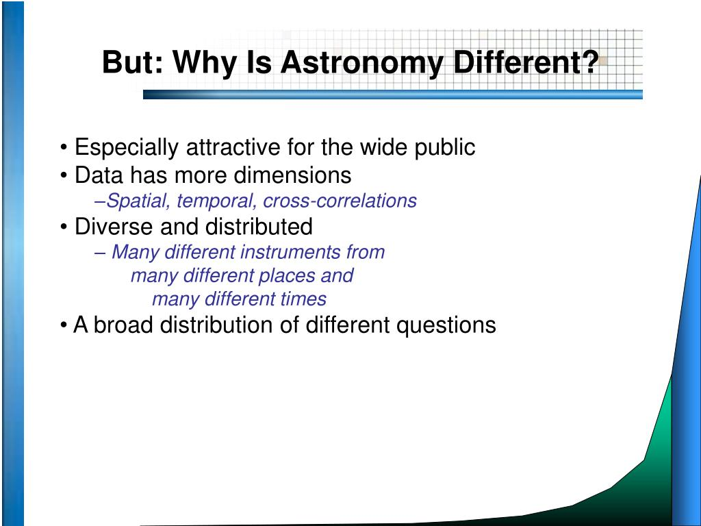 But: Why Is Astronomy Different?