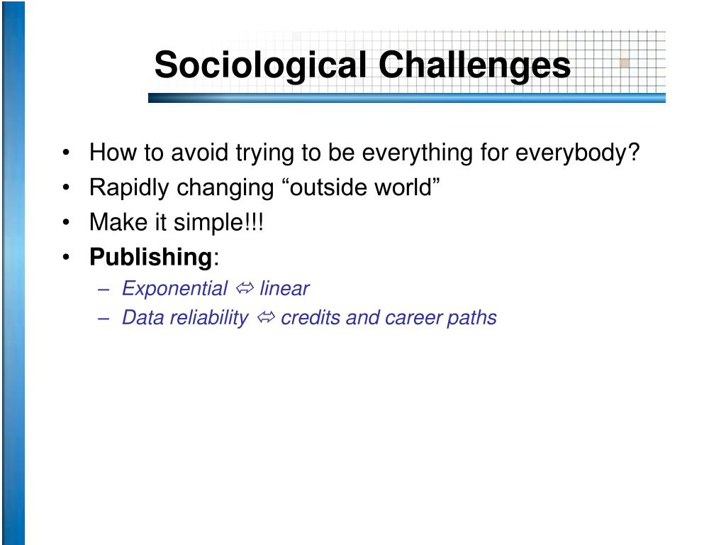 Sociological Challenges
