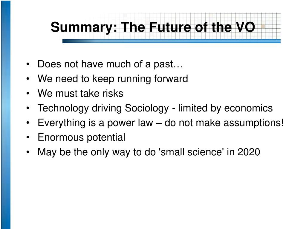 Summary: The Future of the VO
