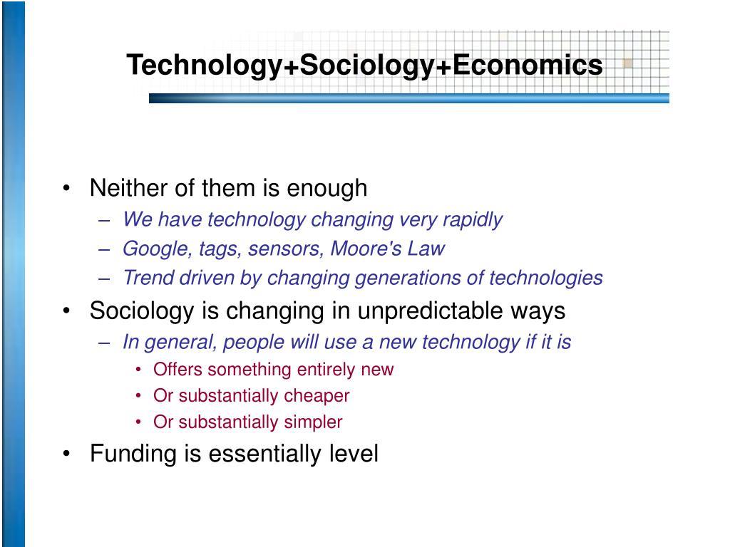 Technology+Sociology+Economics