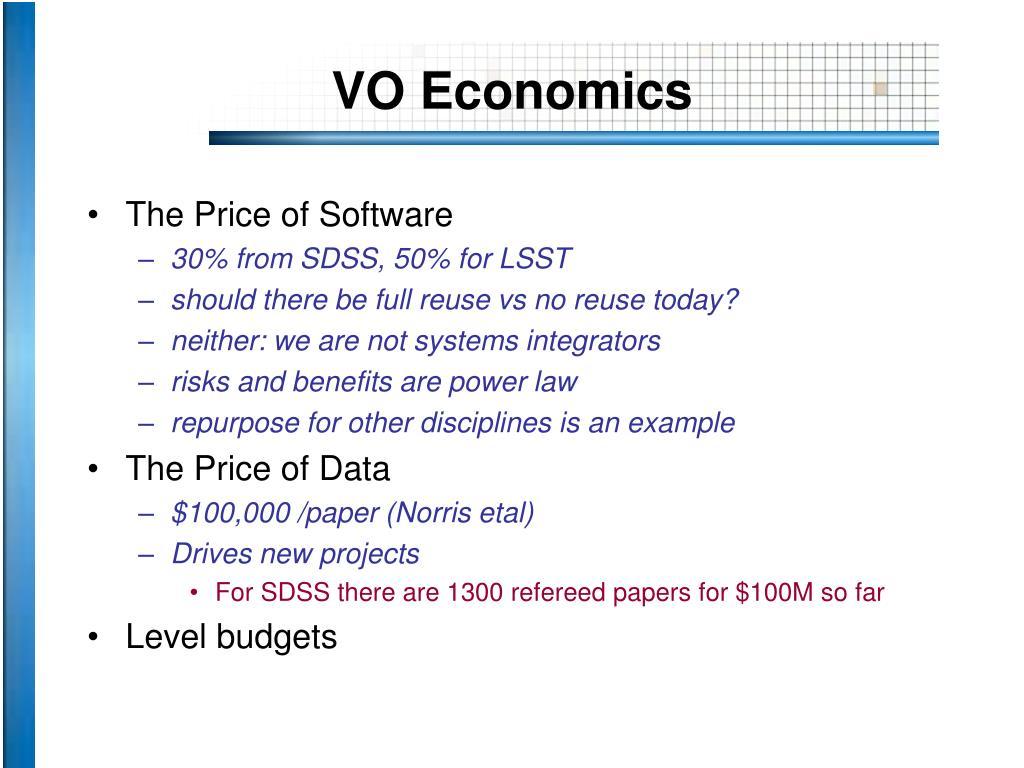 VO Economics
