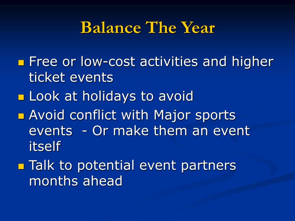 Balance The Year