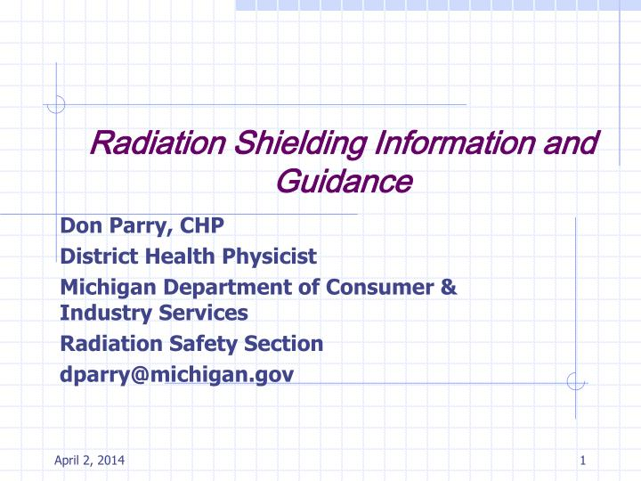 Radiation shielding information and guidance l.jpg