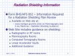 radiation shielding information