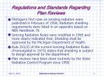 regulations and standards regarding plan reviews