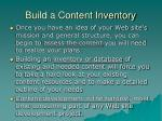 build a content inventory