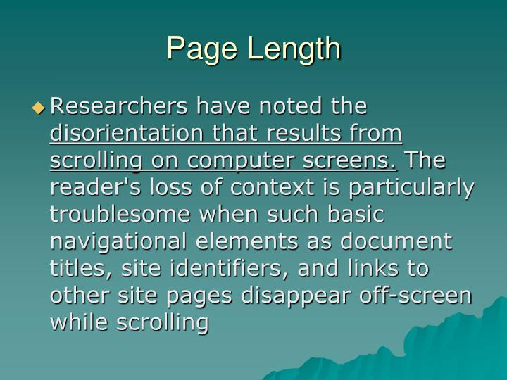 Page Length
