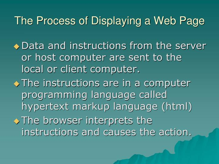 The Process of Displaying a Web Page