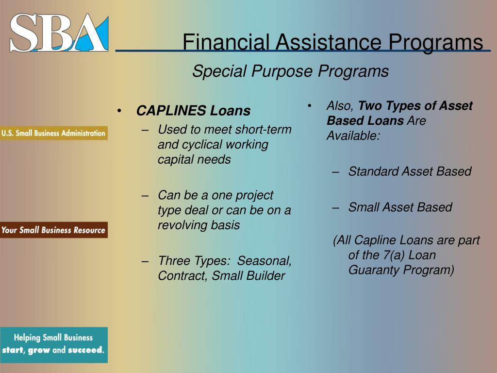 CAPLINES Loans
