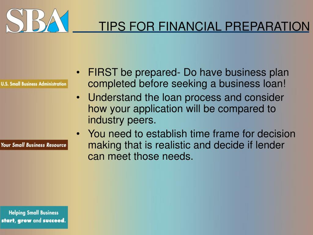 TIPS FOR FINANCIAL PREPARATION