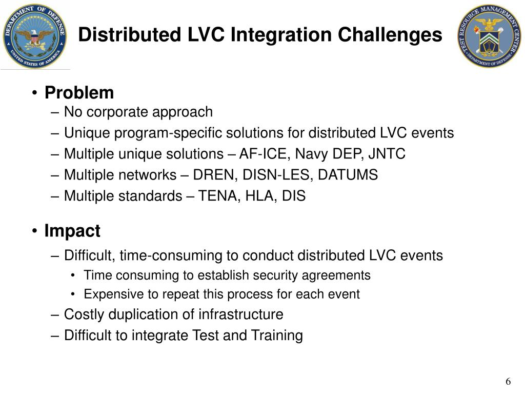 Distributed LVC Integration Challenges